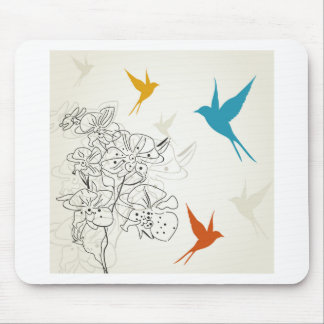 Birds a flower2 mouse pad
