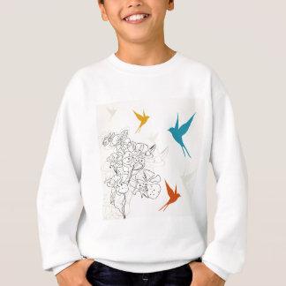 Birds a flower2 sweatshirt