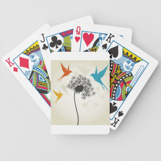 Birds a flower3 bicycle playing cards