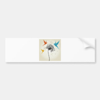 Birds a flower3 bumper sticker