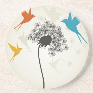Birds a flower3 coaster