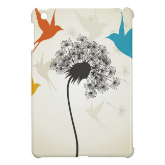 Birds a flower3 iPad mini cases