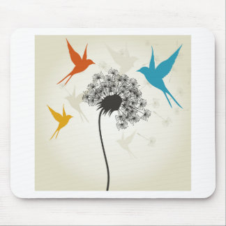 Birds a flower3 mouse pad