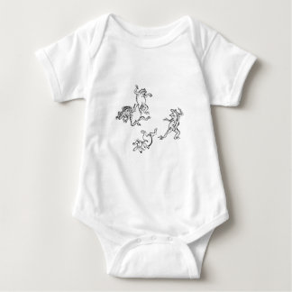 Birds and beasts person caricature baby bodysuit