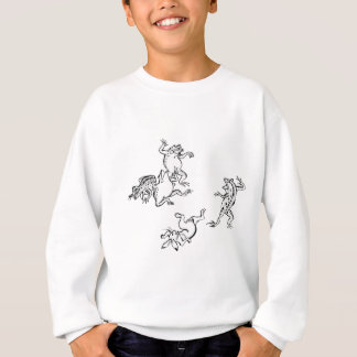 Birds and beasts person caricature sweatshirt