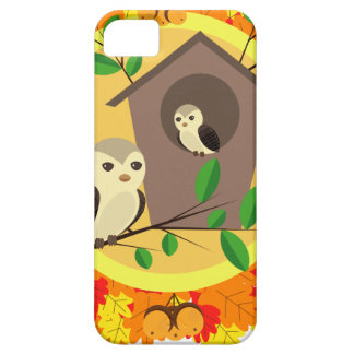 Birds And Birdhouse In The Autumn iPhone 5 Case
