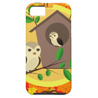 Birds And Birdhouse In The Autumn iPhone 5 Cases
