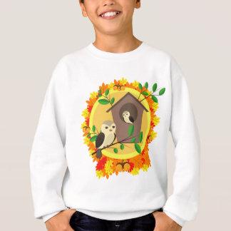 Birds And Birdhouse In The Autumn Sweatshirt
