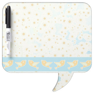 Birds and daisies dry erase board