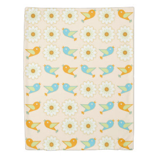 Birds and daisies duvet cover