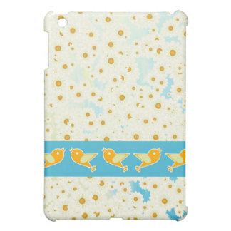 Birds and daisies iPad mini cases