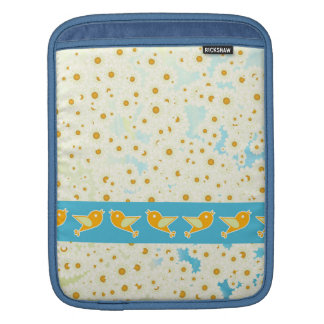 Birds and daisies iPad sleeve