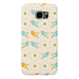 Birds and daisies samsung galaxy s6 cases