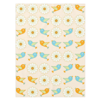 Birds and daisies tablecloth