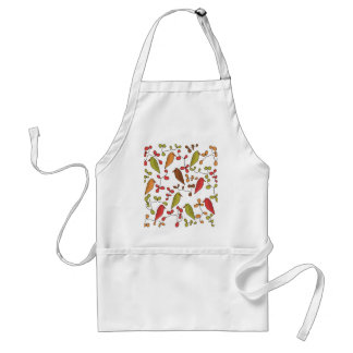Birds and flowers 3 standard apron