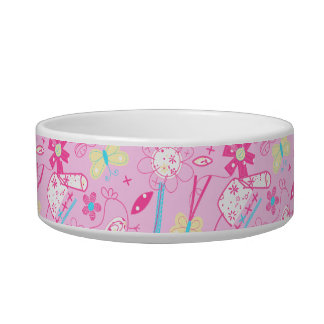 Birds and flowers bowl