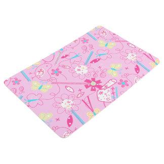 Birds and flowers floor mat