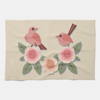 Birds and Flowers Kitchen Towel