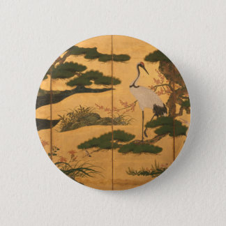 Birds and Flowers of the Four Seasons 2 Inch Round Button