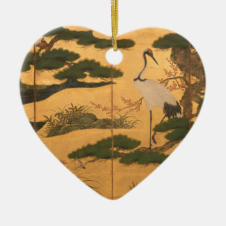 Birds and Flowers of the Four Seasons Ceramic Ornament