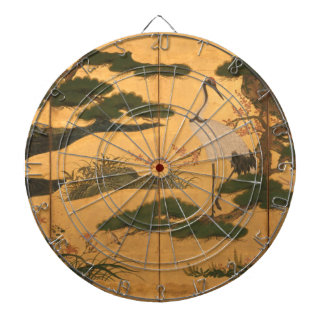 Birds and Flowers of the Four Seasons Dartboard