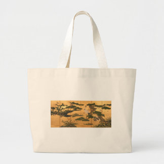 Birds and Flowers of the Four Seasons Large Tote Bag