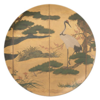 Birds and Flowers of the Four Seasons Plate