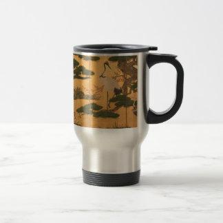 Birds and Flowers of the Four Seasons Travel Mug