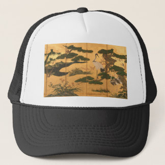 Birds and Flowers of the Four Seasons Trucker Hat