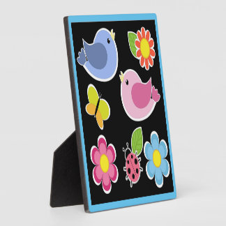 BIRDS AND FLOWERS PATTERN PLAQUE