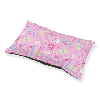 Birds and flowers pet bed