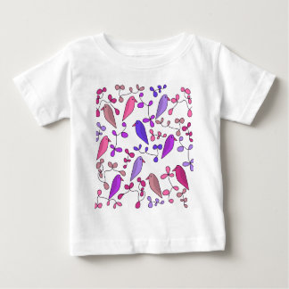 Birds and flowers - pink baby T-Shirt