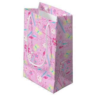 Birds and flowers small gift bag