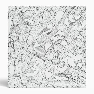 Birds and Maple Tree U-Color Vinyl Binders