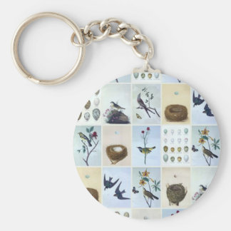 Birds and Nests Keychain