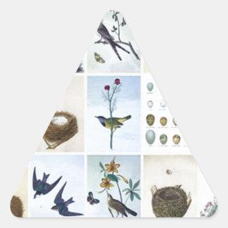Birds and Nests Triangle Sticker
