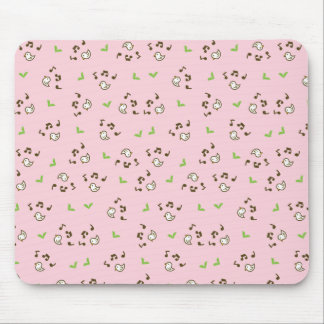 Birds and song pattern mouse pad