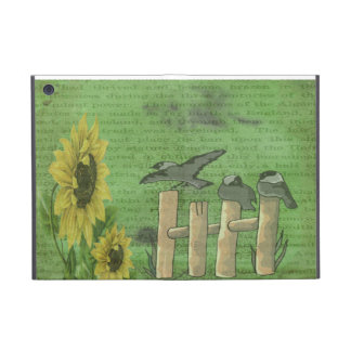 Birds and Sunflowers iPad Mini Cover