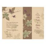 Birds and Vines Fall Wedding Program