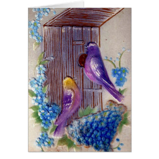 Birds andBird House Birthday Card