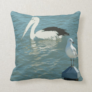 Birds at Shorncliffe Throw Pillow