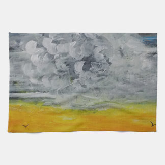 Birds at sunrise towel