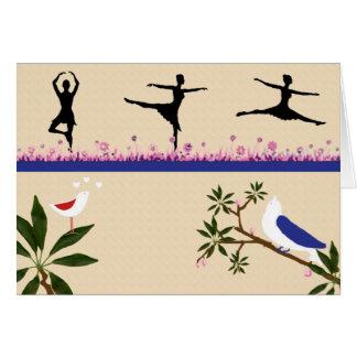 Birds & Ballet Note Card