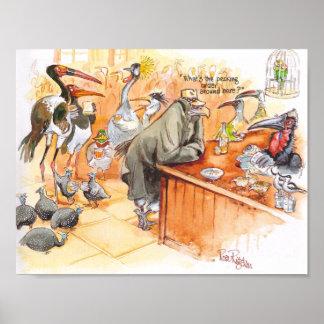 Birds bar poster