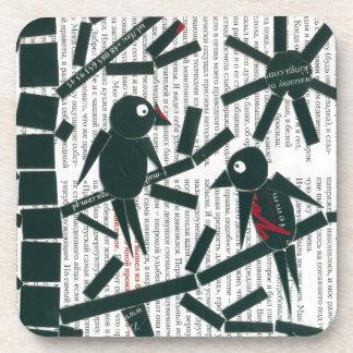 birds, bird , branch , nature , friendship , frien drink coaster