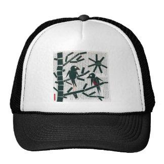 birds, bird , branch , nature , friendship , frien trucker hat