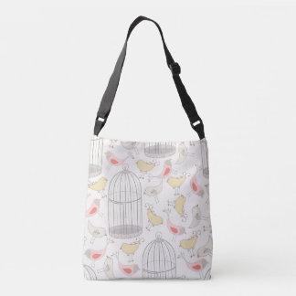 Birds & Birdcages Pattern Crossbody Bag