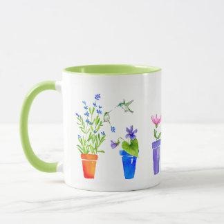 Birds, Blossoms and Flowerpots Mug
