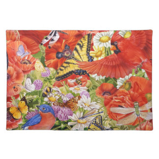 Birds, Butterflies and Bees Placemats