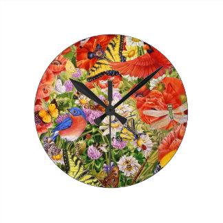 Birds, Butterflies and Bees Wall Clock